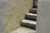picture of sissi  - Stones staircase in Sissi on Crete - JPG