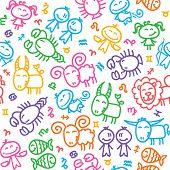 pattern with zodiac