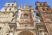 Detail Of Astorga's Cathedral Facade