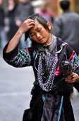 A woman from Black Hmong tribe in Sapa, Vietnam