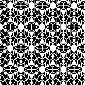 Seamless monochrome elegant pattern. Vector illustration.