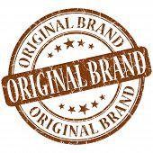 Original Brand Grunge Brown Round Stamp poster