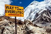 Mount Everest Footpath Sign