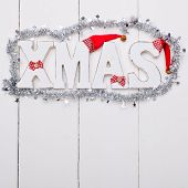 Shabby Wooden Christmas Background