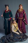 Beautiful Young Girls In A Historical Dresses