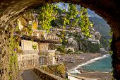 Positano archway view