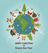 picture of gingerbread house  - Christmas planet card - JPG