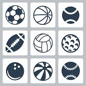Vector Sport Balls Icons Set