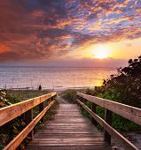 boardwalk on beach