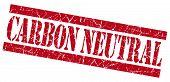 Carbon Neutral Grunge Red Stamp