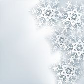 picture of symmetrical  - Stylish creative abstract background 3d snowflake - JPG