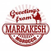 Greetings From Marrakesh Stamp