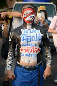Bangkok - November 11, 2013 : Anti-government Protesters At The Democracy Monument In Bangkok, Thail