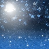 christmas snowy night  background