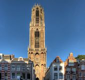 picture of dom  - The famous Dom tower in Utrecht Netherlands - JPG