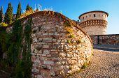 Brescia Castle In Italy