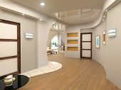 image of attic  - modern interior design  - JPG