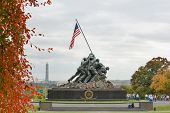 WASHINGTON, DC - NOV 06: Iwo Jima Memorial in Washington, DC on November 06, 2013. The Memorial hono