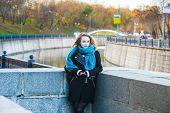 Girl at embankment