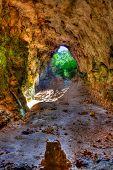 Menorca Cova dels Coloms Pigeons cave in es Mitjorn at Balearic island