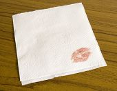 Napkin And A Kiss