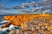 Menorca Punta Nati Faro lighthouse in Ciutadella Balearic Islands of Spain