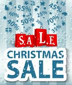 Christmas sale poster design with shopping bags