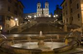 Spanish Steps by night