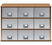 Drawers Whith Labels On Handles