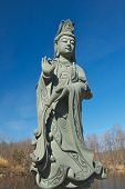 picture of stature  - The stature of Guanyin in Chuang Yen Monastery represents the bodhisattva of compassion - JPG