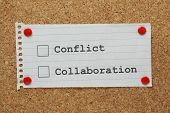 Conflict or Collaboration