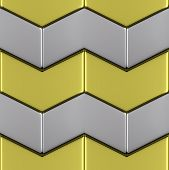Metal With Gold Surface Of Steel Arrow Blocks Seamless Background
