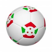 picture of burundi  - 3D Flags on soccer ball of Burundi - JPG