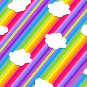 Colorful  Illustration Design With Cloud