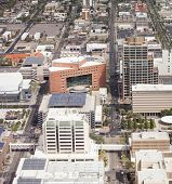 aerial view of downtown Phoenix, Arizona