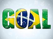 Brazil 2014 Goal Soccer Letters With Brazilian Flag