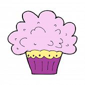 cartoon big cupcake