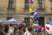 KRAKOW, POLAND - APR 21, 2014: Unidentified participants Emmaus catholic festival on Easter Monday c