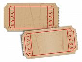 vintage blank paper tickets