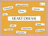 Heart Disease Corkboard Word Concept