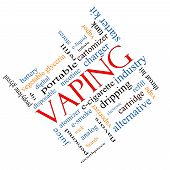 Vaping Word Cloud Concept Angled