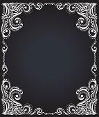 Template frame design for card. Floral pattern.