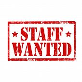 Staff -wanted-stamp
