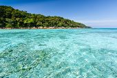 Beautiful Tropical Crystal Clear Sea, Ta Chai Island