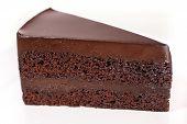 Chocolate Cake On White Dish