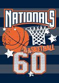 Basketball Nationals Sports On Stripped Background