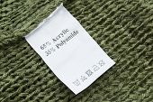 Fabric Composition Label