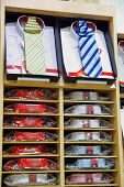 pic of chokers  - Shirts with necktie in a clothing shop - JPG