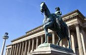 Queen Victoria Statue Outside St. George's Hall In Liverpool