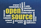 picture of open-source  - software development concept  - JPG